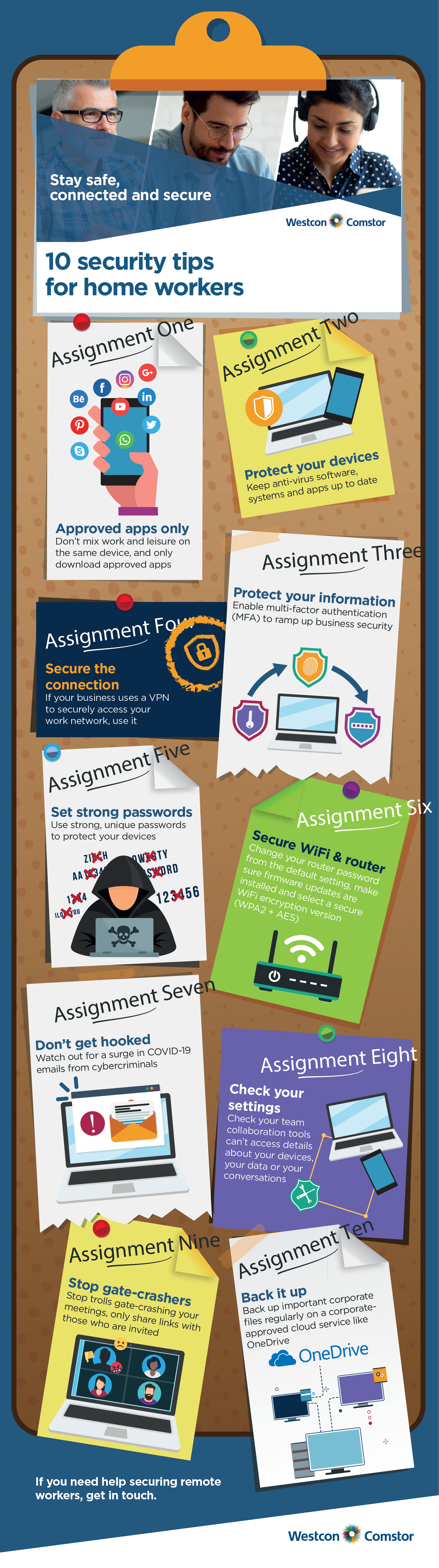 cyber homework for the home worker infographic
