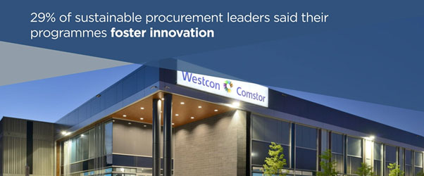 29% of sustainable procurement leaders report that their sustainability programmes foster innovation